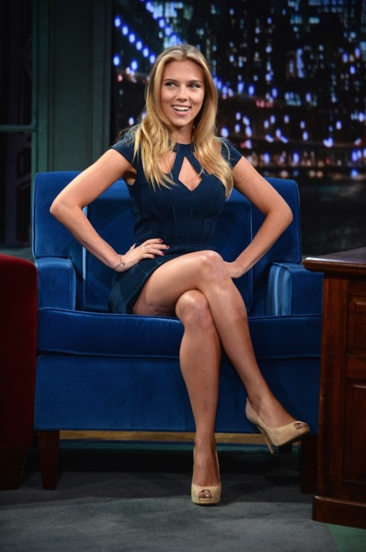 "Scarlett Johansson Visits ""Late Night With Jimmy Fallon"""
